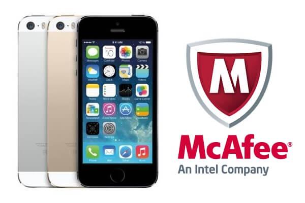 iPhoneとマカフィーR モバイル セキュリティ iOS版