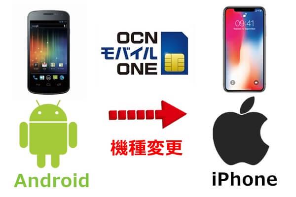 AndroidからiPhoneへ機種変更