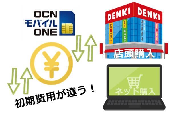 OCNモバイルONEの店頭とネット