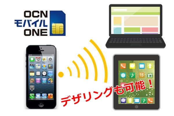 OCNモバイルONEとデザリング